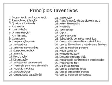 Triz - Principios inventivos